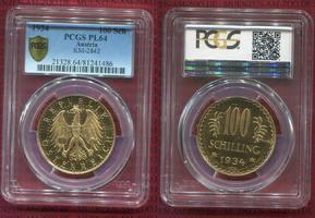 100 Schilling Gold 1934 Österreich, Austri...