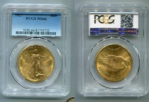 20 Dollars St. Gaudens Double Eagle 1927 USA St. Gaudens Typ Double Eagle PCGS zertifiziert MS 66