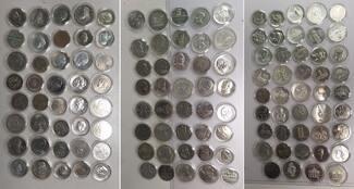Komplettsammlung 123 Münzen 1966-90 DDR, GDR Eastern Germany DDR Gedenkmünzen komplett Gepflegt in fünf  Leuchtturm  Münzenboxen Im Durchschnitt vz-prfr bis Stgl.