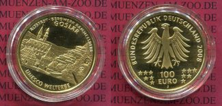 Deutschland BRD 100 Euro Gold 2008 J Stemp...
