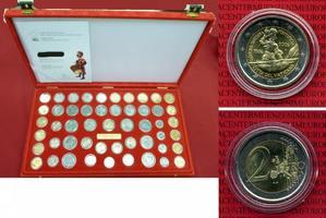 Münzbox 51 Münzen m. 2 E Schweizer Garde 2006 u. A. Vatikan Vatikan Münzbox 51 Münzen incl. 2 Euro 2006 500 Jahre Schweizer Garde Rote Münzbox mit 51 Münzen Gavia Zert.