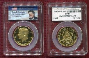 1/2 Dollar Gold 2014 W USA USA 1/2 Dollar ...