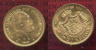 Schweden, Sweden 20 Kronor Goldmünze 1889 ...
