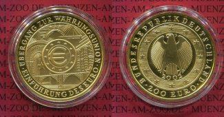 Deutschland BRD Germany FRG 200 Euro Gold ...