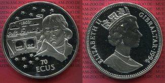 Gibraltar 70 Ecus Silber 1994 PP Münze ist...
