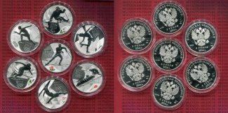 Russland Russia, UDSSR, USSR 7 x 3 Rubel S...