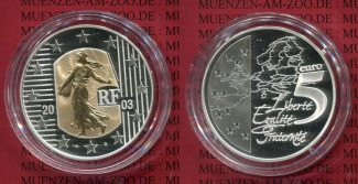 Frankreich France 5 Euro Bimeta