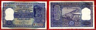 Indien, India 100 Rupees Rupien 1949-70 ND...