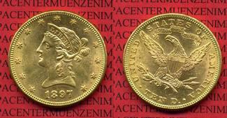 10 Dollars Gold,  Eagle Coronet Head 1897 ...
