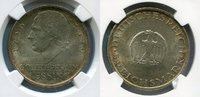 Weimarer Republik NGC zertifiziert 5 Mark Silber Gedenkmünze Weimarer Republik 5 Mark 200. Geburtstag von Lessing 1929 A  Silber, J. 336