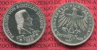 Bundesrepublik Deutschland, Germany FRG 5 DM Gedenkmünze Commemorative Coin 5 DM 1955 F, 150. Todestag von Friedrich von Schiller J. 389