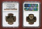 Russland 100 Rubel Gold 1/2 Unze Leo Tolstoi Monument PP