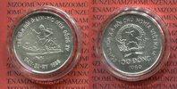 Vietnam 100 Dong Silbermünze XV Olympiade in Calgary, Skiläufer