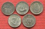 Lot 5 x 1/2 Dollar 1893 - 1982 USA Commemorative Silver Half Dollars Co... 99,00 EUR  zzgl. 4,20 EUR Versand