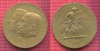 Medaille Bronze 1929 Zeppelin Graf Zeppeli...