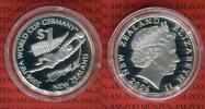 Neuseeland 1 Dollar Silbermünze Neuseeland 1 Dollar 2006 Fußball WM Deutschland, Soccer Worldcup Germany