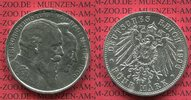 5 Mark Silbermünze Kaiserreich 1906 Baden ...