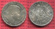 3 Mark Silber Kursmünze 1909 Reuß Ältere L...