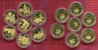 7 x 50 Dollars Gold 2002 Liberia Goldmünze...
