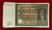 50 Rentenmark 1934 Weimarer Republik Rentenbank 6. Juli 1934 Freiherr v... 55,00 EUR  zzgl. 4,20 EUR Versand