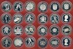 Lot von 12 Silbermünzen 1981/1982 Lot Silb...
