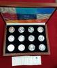 Satz 12 x 10 Euro Silbermünzen 2004 Griech...