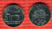 DDR 10 Mark Silbergedenkmünze Gedenkmünze 200 Jahre Charité Berlin