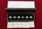 6 x 20 Euro Goldmünzen, je 1/8 Unze 2010-2...