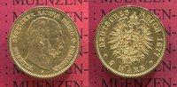 5 Mark 1877 A Preußen Wilhelm I. sehr schön +