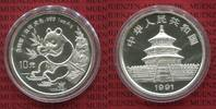 10 Yuan Panda 1 Unze Silber 1991 China Vol...
