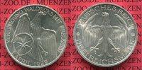 3 Mark Silber Gedenkmünze 1929 Weimarer Re...