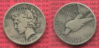 1 Dollar Silbermünze 1921 USA Peace Typ Ke...