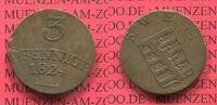 3 Pfennige 1824 Sachsen Weimar Eisenach Großherzogtum Kleinmünze nice t... 25,00 EUR  zzgl. 4,20 EUR Versand