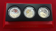 3 x 500 FRW Silbermünzen 2013 Ruanda, Rwan...