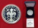 500 Forint Silbermünze 1992 Ungarn Karlo I...
