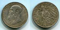 3 Mark Silbermünze 1915 Sachsen Meiningen ...