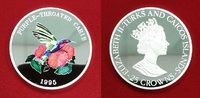 25 Crowns 5 Unzen Silber 1995 Turks and Ca...