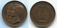 Medaille Bronze 1853 Belgien Hochzeit Leop...