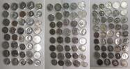 Komplettsammlung 123 Münzen 1966-90 DDR, G...