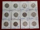 12 x 25 Cents Silbermünzen Quarter 1925 - 1930 USA Standing Liberty Lot... 89,00 EUR  zzgl. 4,20 EUR Versand