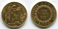 100 Francs Goldmünze, Goldcoin 1907 Frankr...