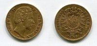 10 Mark Bayern Goldmünze 1873 D Bayern Lud...