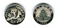 5 Yuan Silbermünze 1993 China Silber-Panda 1993 fast Stempelglanz  22,00 EUR  zzgl. 4,20 EUR Versand