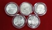 5 Silbermünzen 1978, 1979 Vatikan 3 Päpste...