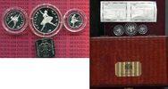 Russland Russia 25, 50, 150 Rubel Ballerina Platin Satz 1993  750 Auflage mit Holzbox und Zert.