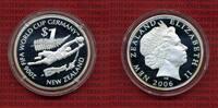 Neuseeland New Zealand 1 Dollar Silber Neuseeland 1 Dollar 2006 Fußball WM Deutschland, Soccer Worldcup Germany