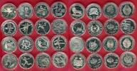 Lot von 16 Silbermünzen 2004 - 2006 Argent...