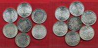 Japan Lot 7 x 1000 Yen 1964 Lot 7 x Japan 1000 Yen 1964 Olympcs Tokio 1964 Silber Stgl.