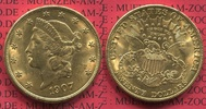 USA 20 Dollars Gold Double Eagle 1907 vz, USA 20 Dollars 1907 Gold Liber... 1299,00 EUR
