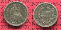 USA 5 Cents Silbermünze Half Dime USA 5 Cents Half Dime 1853 Seated Liberty mit Pfeilen